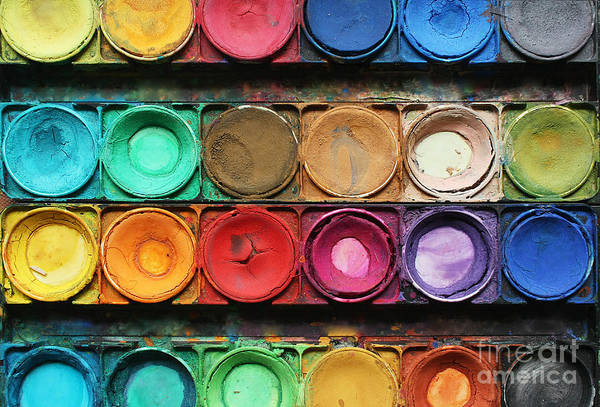 Wall Art - Photograph - Set Of Color Paints by Solomiya Trylovska