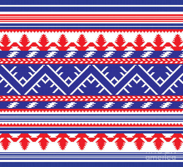 Wall Art - Digital Art - Set Of Ethnic Ornament Pattern In by Zinaida Zaiko