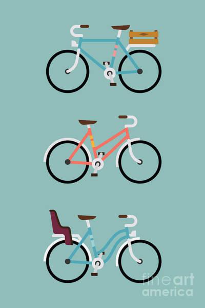 Wall Art - Digital Art - Set Of Three Modern Vector Flat Design by Mascha Tace