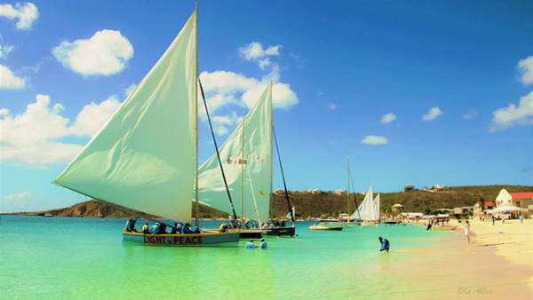 Photograph - Set Your Sails At Sandy Ground In Anguilla by Ola Allen