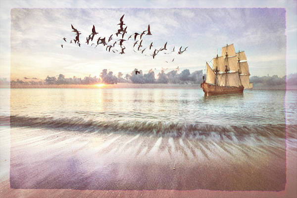 Wall Art - Photograph - Setting Sail In Dawn's Soft Light by Debra and Dave Vanderlaan