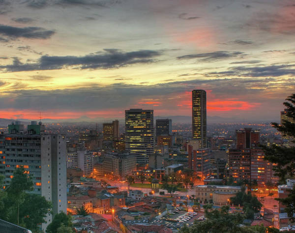 Colombia Photograph - Setting Sun Over Bogotá by Tobntno