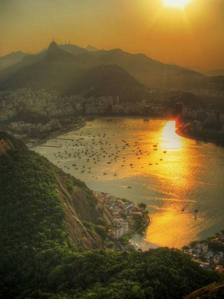 Brazil Photograph - Setting Sun Over Botafogo by By Aj Brustein
