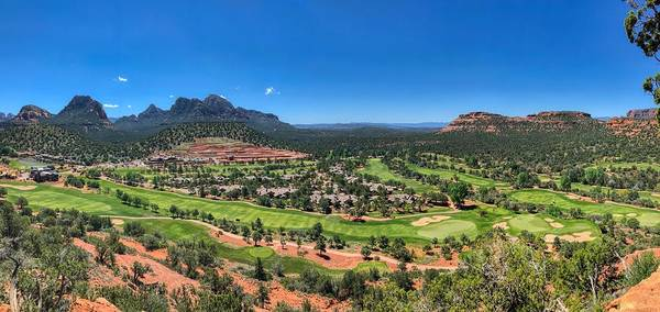 Photograph - Seven Canyons Golf Course Panorama by Ants Drone Photography
