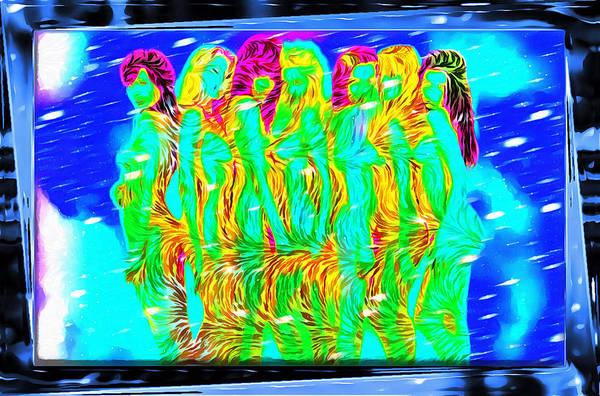 Digital Art - Seven Graces by Mario Carini