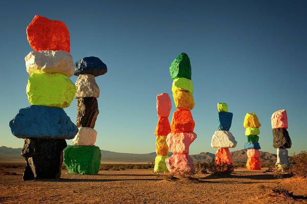 Wall Art - Photograph - Seven Magic Mountains Iv by Ricky Barnard