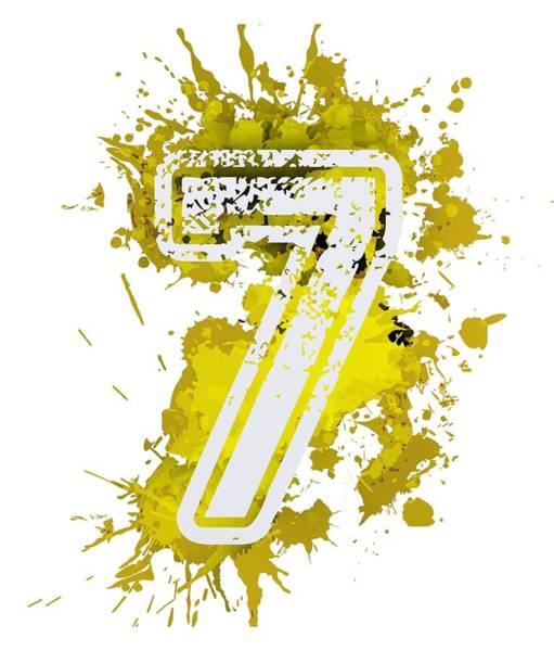 Digital Art - Seven Over Yellow Stain by Alberto RuiZ