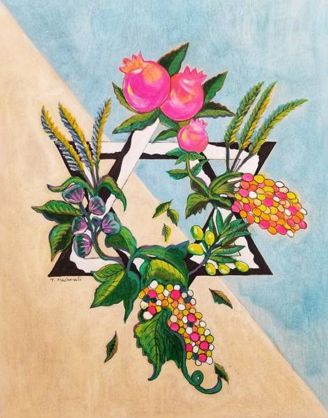 Barley Painting - Seven Species Of Israel 1 by Tammy Machmali