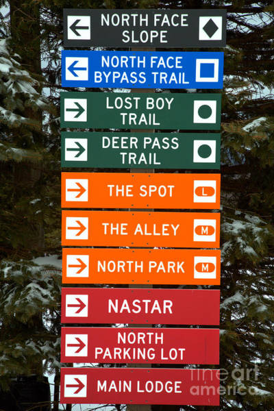 Photograph - Seven Springs Ski Resort Directions by Adam Jewell