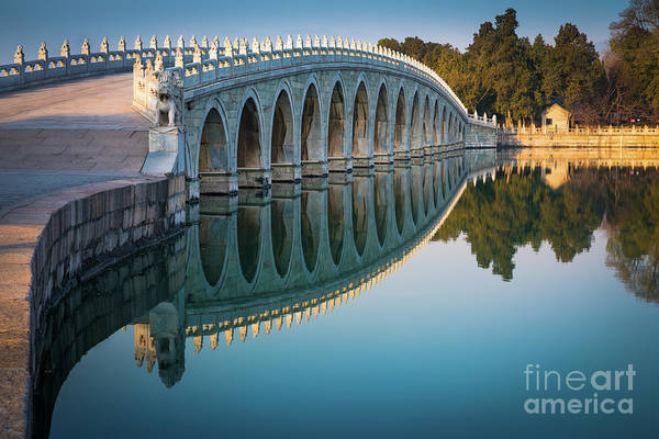 Wall Art - Photograph - Seventeen Arch Bridge by Inge Johnsson
