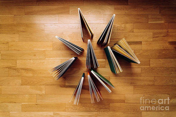 Photograph - Several Books Of Children's Literature Showing Open On The Woode by Joaquin Corbalan