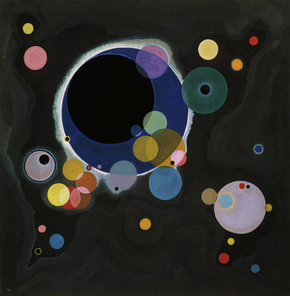 Visual Illusion Wall Art - Painting - Several Circles - Einige Kreise by Wassily Kandinsky