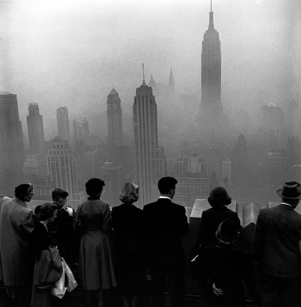 Photograph - Several People Standing On The Top Of A by Eliot Elisofon