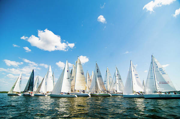 Sailboat Photograph - Several Sailboats by Helena Wahlman