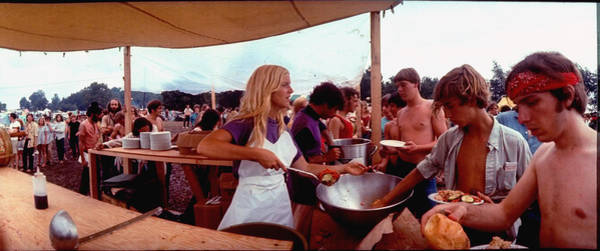 Photograph - Several Young People Dishing Out Food To by John Dominis