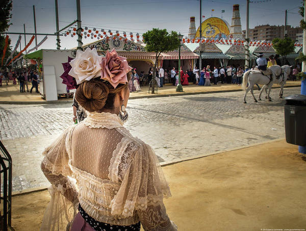 Photograph - Seville Fair by Juan Contreras