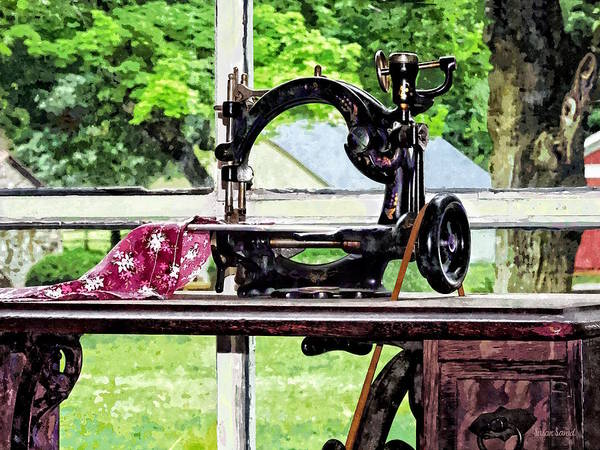 Photograph - Sewing Machine In Window by Susan Savad