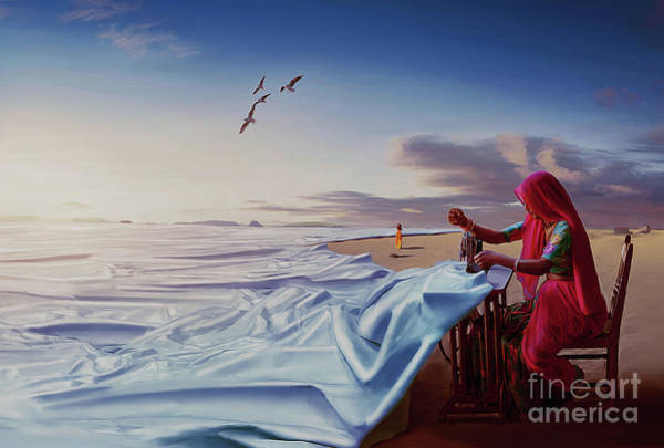 Wall Art - Painting - Sewing Sea  by Gull G
