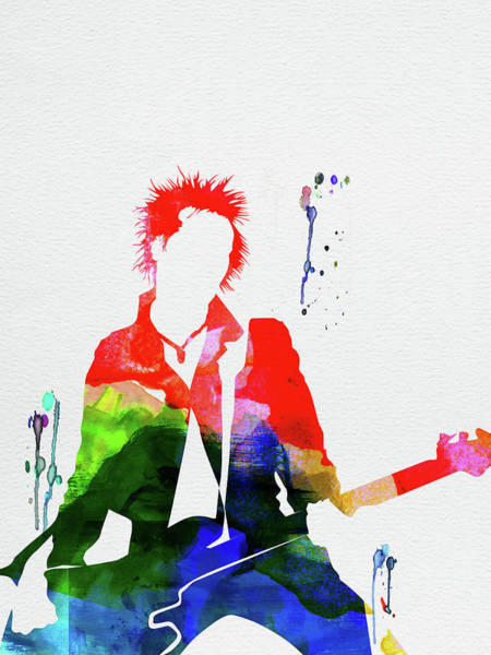 Wall Art - Mixed Media - Sex Pistols Watercolor by Naxart Studio