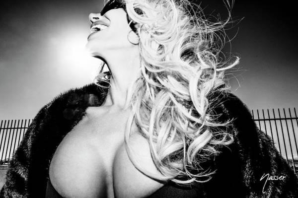 Photograph - 0558 Sexy Fashionista Blonde - Model Selenaphillips Black And White Las Vegas Fashion Editorial Art by Amyn Nasser Photographer - Fashion Editorial