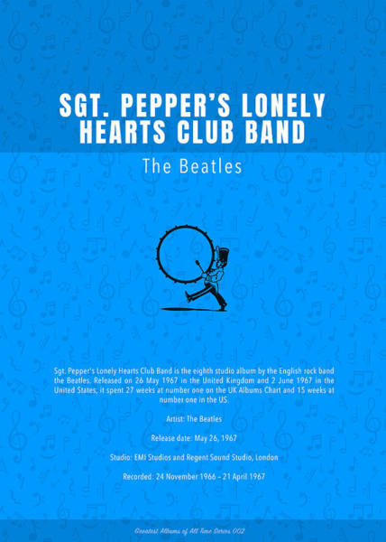 Wall Art - Mixed Media - Sgt Peppers Lonely Hearts Club Band The Beatles Greatest Albums Of All Time Minimalist Series by Design Turnpike