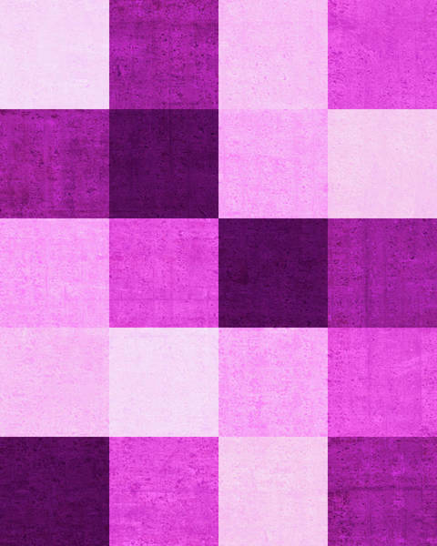 Wall Art - Digital Art - Squares Magenta - Vertical by Peter Tellone