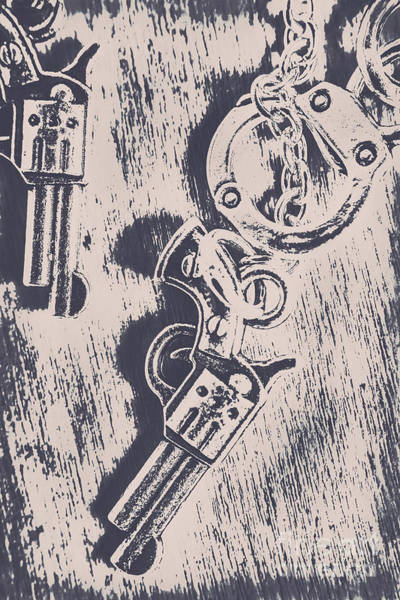 Revolver Photograph - Shackled To The Law by Jorgo Photography - Wall Art Gallery