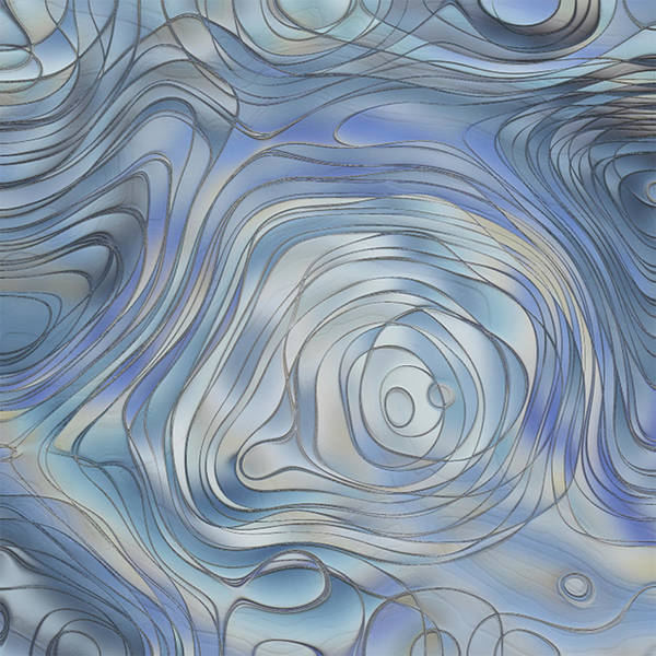 Wall Art - Painting - Shades Of Blue 4 by Jack Zulli