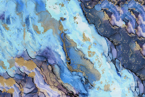 Painting - Shades Of Blue And Gold by Alissa Beth Photography