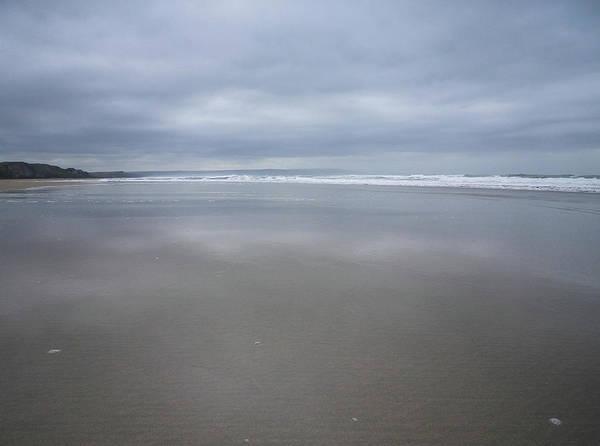 Wall Art - Photograph - Shades Of Grey At Sandymouth Beach Cornwall by Richard Brookes