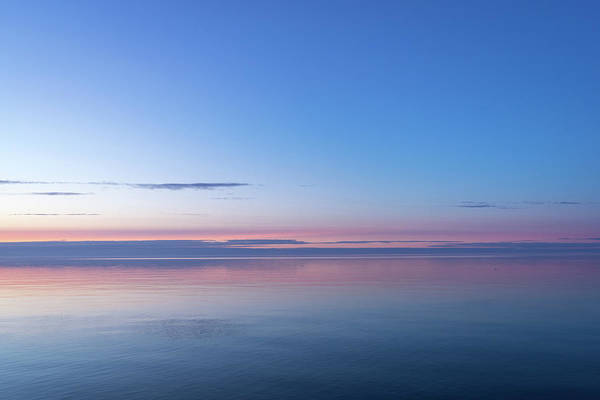 Photograph - Shades Of Happy Shades Of Calm - Deep Sapphire Blue Turning To Living Coral by Georgia Mizuleva
