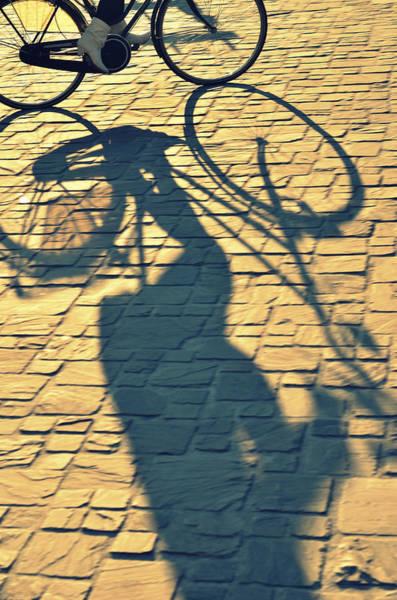 Wall Art - Photograph - Shadow Of Bicycle by Photo By Ira Heuvelman-dobrolyubova