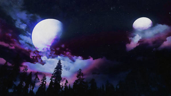 Painting - Shadow Of The Moon - 15 by Andrea Mazzocchetti