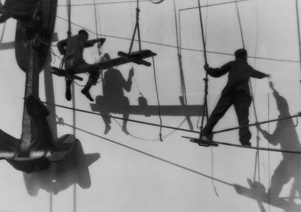 Shadow Photograph - Shadows & Silhouttes Of Shipyard by J. Kauffmann