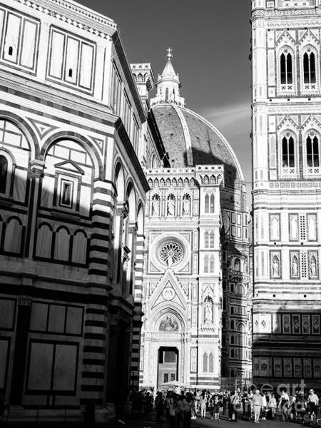 Photograph - Shadows At Piazza Del Duomo In Florence by John Rizzuto