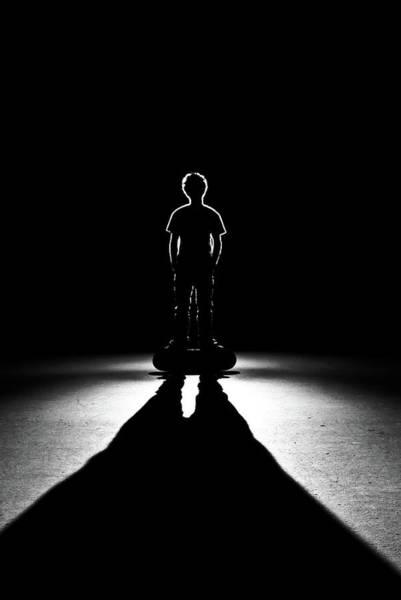 Skateboard Photograph - Shadows Of Skateboarder by Stephen Cameron Photos