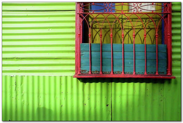 Buenos Aires Photograph - Shadows On A Colorful Window by By Felicitas Molina