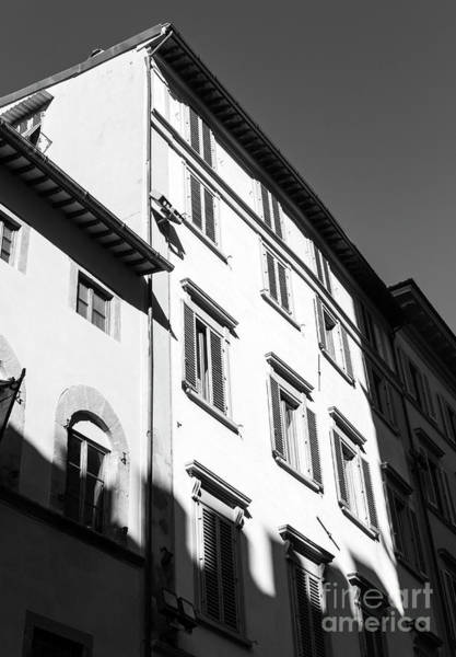 Photograph - Shadows On The Building In Florence by John Rizzuto