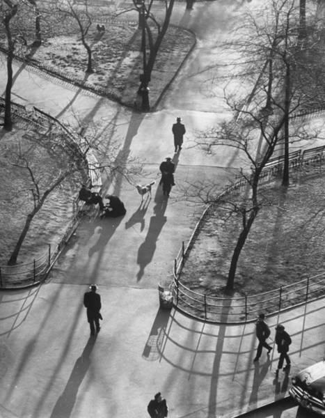 Washington Square Park Wall Art - Photograph - Shadows by Yale Joel
