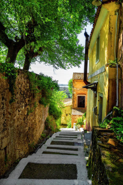 Photograph - Shadowy Corfu Steps by Kay Brewer