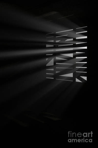 Digital Art - Shafts Of Light Through Window by Clayton Bastiani