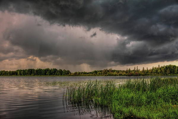 Photograph - Shafts Of Rain Over Lost Lake by Dale Kauzlaric
