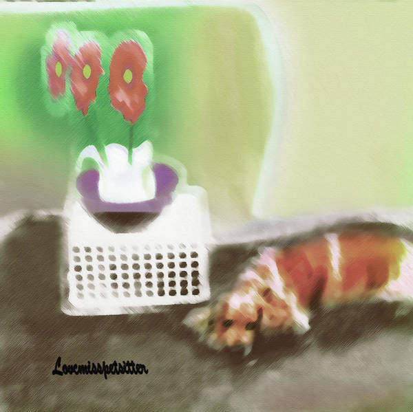 Shaggy And Flowers Painting Art Print