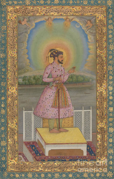 Wall Art - Painting - Shah Jahan On A Terrace by Chitarman