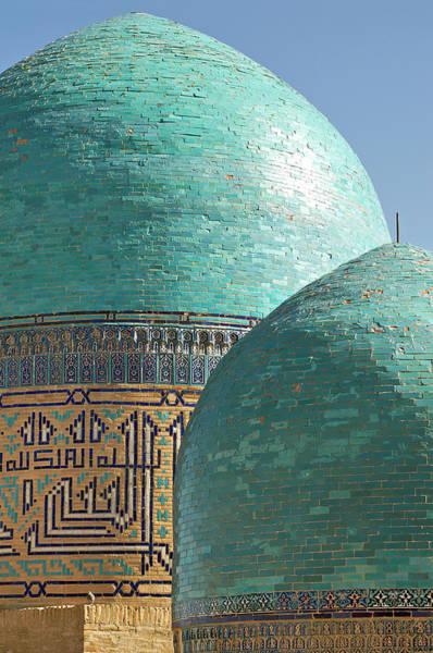 Burial Wall Art - Photograph - Shahr I Zindah Mausoleum, Samarkand by Jamie Marshall - Tribaleye Images