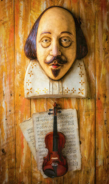 Photograph - Shakespeare And Violin by Garry Gay