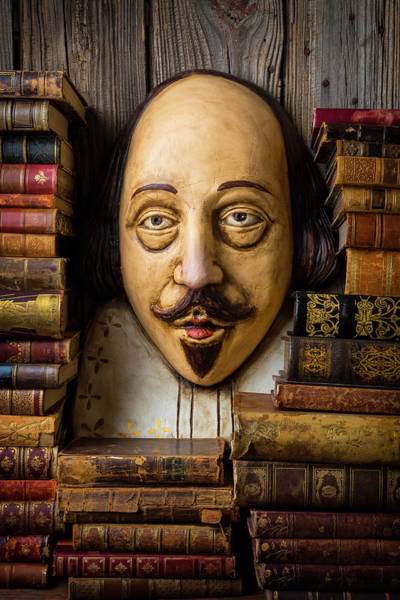 Wall Art - Photograph - Shakespeare With Old Books by Garry Gay