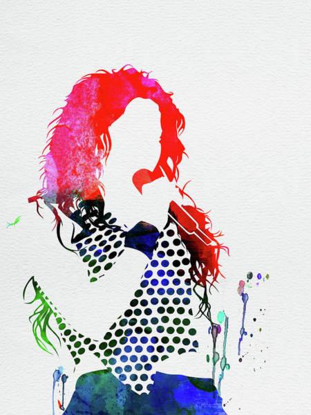 Jazz Mixed Media - Shakira Watercolor by Naxart Studio
