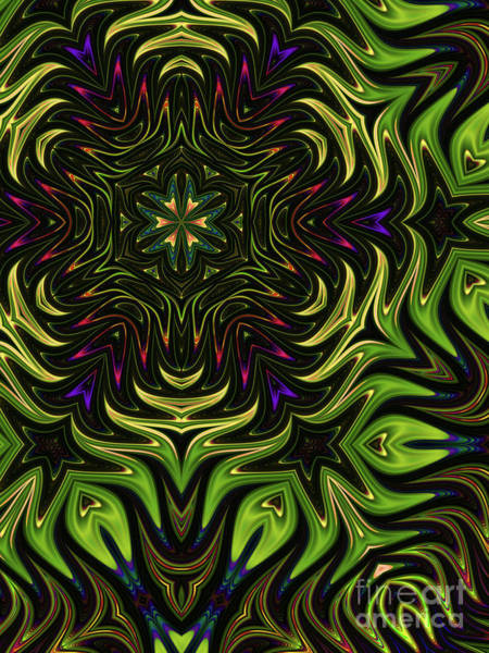 Web Digital Art - Shamrock by John Edwards