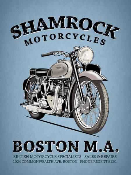 Wall Art - Photograph - Shamrock Motorcycles Boston by Mark Rogan